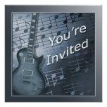 Guitar Invitations - Multi Use Personalized Announcement