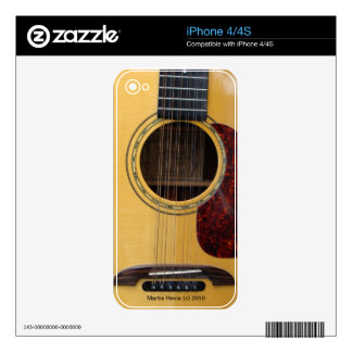 Guitar - iPhone 4/4S Skin Skin For iPhone 4S