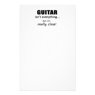 Guitar Isn't Everything Stationery Paper