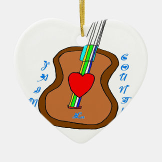 GUITAR J LIKES COUNTRY.png Ceramic Ornament