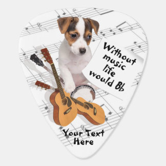 Guitar & Jack Russell Without Music Life Would Bb Guitar Pick