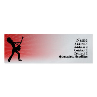 Guitar Jam  - Skinny Double-Sided Mini Business Cards (Pack Of 20)