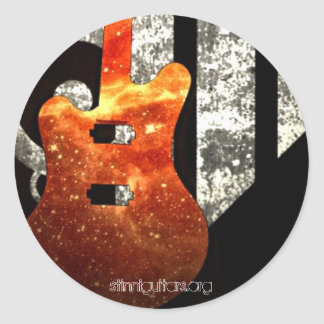 Guitar Jig Classic Round Sticker