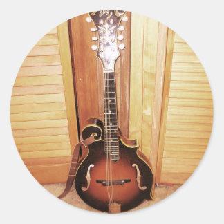 guitar.JPG Pegatina Redonda