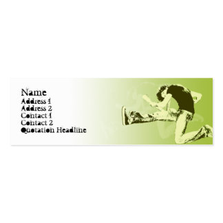 Guitar Jump  - Skinny Double-Sided Mini Business Cards (Pack Of 20)