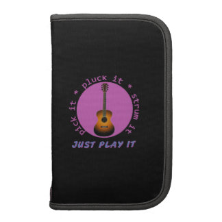 Guitar - Just Play It - Black Background Folio Planners
