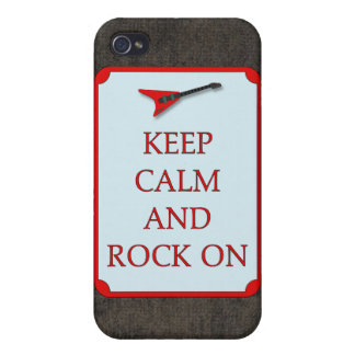Guitar Keep Calm Rock On Speck Case iPhone4