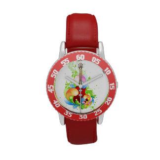 Guitar kids watch. wristwatches