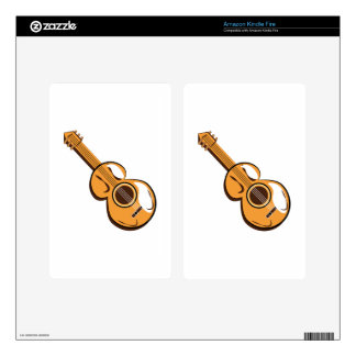 Guitar Kindle Fire Decal