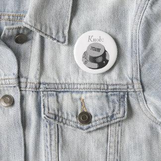 Guitar Knob Badge Pinback Button
