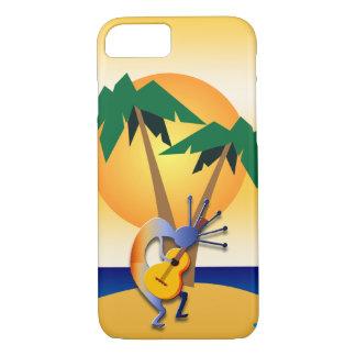 Guitar Kokopelli on Palm Tree Island iPhone 8/7 Case