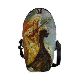 Guitar Lady Messenger Bags
