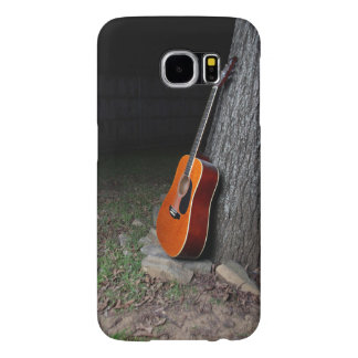 Guitar leaning against tree. samsung galaxy s6 case