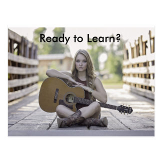 Guitar Lessons Advertising Postcard for Businesses