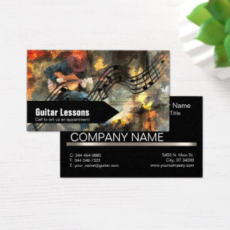 Guitar Lessons and Music Instructors Business Card