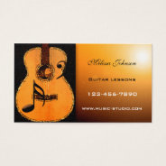 Guitar Lessons Appointment Card at Zazzle