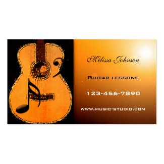 Guitar Lessons Appointment Card Double-Sided Standard Business Cards (Pack Of 100)