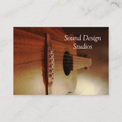 Guitar Lessons Business Cards Studio