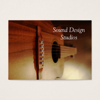 Guitar Lessons Business Cards Studio