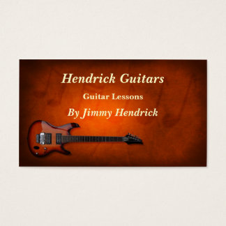 Guitar Lessons Guitar Sales Business Card