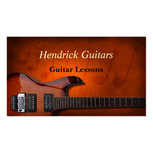 Guitar Lessons Guitar Sales Business Card Template