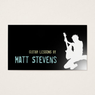 Guitar Lessons Music Instructor Business Card