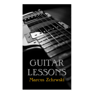Guitar Lessons Music Instructor Instruments Shop Business Card