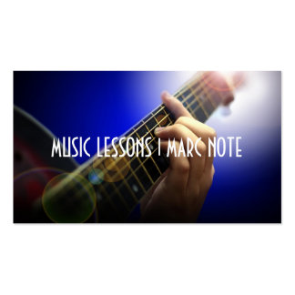 Guitar Lessons Music  Instruments Instructor Double-Sided Standard Business Cards (Pack Of 100)