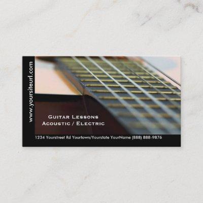 Classical guitar lessons teacher business card zazzle colourmoves