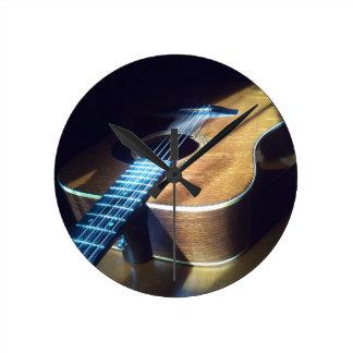 Guitar Life Round Clock