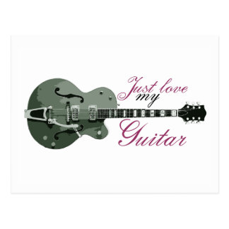 Guitar Lovers | Love My Guitar Postcard