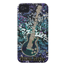 Guitar Magic ~ Chaotic Notes with Electric Guitar iPhone 4 Covers