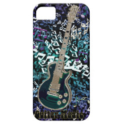 Guitar Magic ~ Chaotic Notes with Electric Guitar iPhone 5 Case