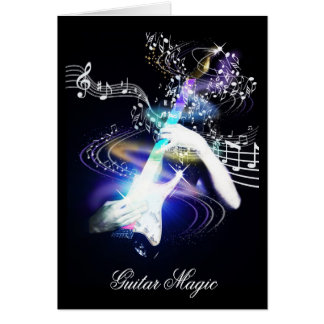 Guitar Magic Electric Guitar Art Card