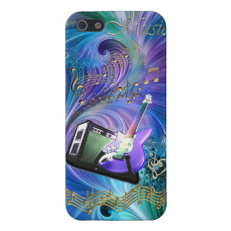 Guitar Magic Swirling Melody iPhone 5 Case