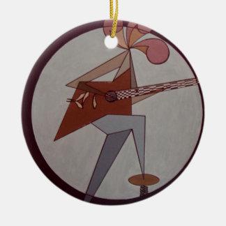 Guitar Man 1975 Ceramic Ornament