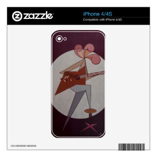 Guitar Man 1975 Decal For iPhone 4S