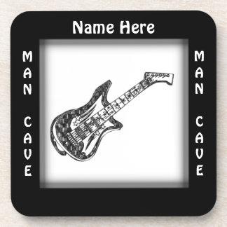 Guitar Man Cave CUSTOMIZE  Coaster