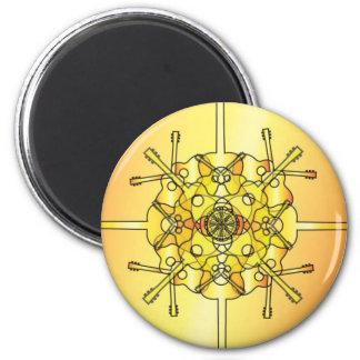 Guitar Mandala 2 Inch Round Magnet