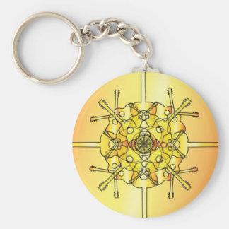 Guitar Mandala Basic Round Button Keychain