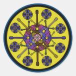 Guitar Mandala Round Sticker