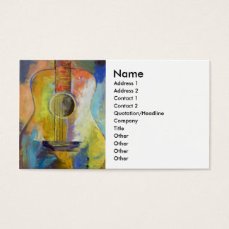 Guitar Melodies Business Card