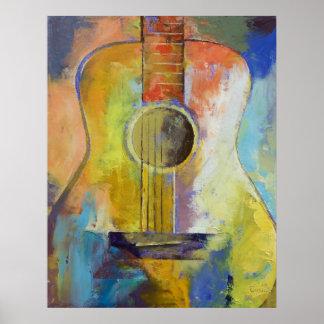 Guitar Melodies Print