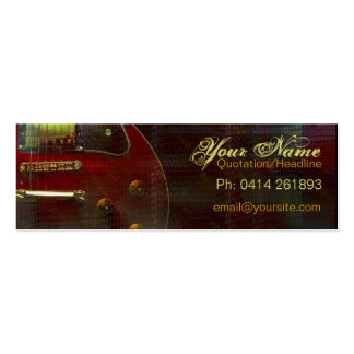 "GUITAR ""miniRED"" Profile card Double-Sided Mini Business Cards (Pack Of 20)"