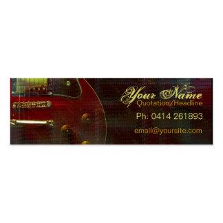 GUITAR miniRED Profile card Business Card Templates
