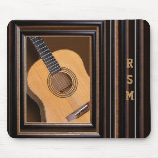 Guitar monogrammed mouse pad