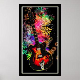 Guitar Moods Print