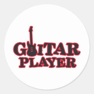 guitar more player classic round sticker