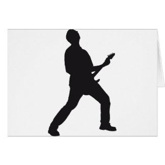 guitar more rocker greeting card