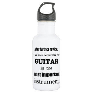 Guitar  Most Important Instrument Water Bottle